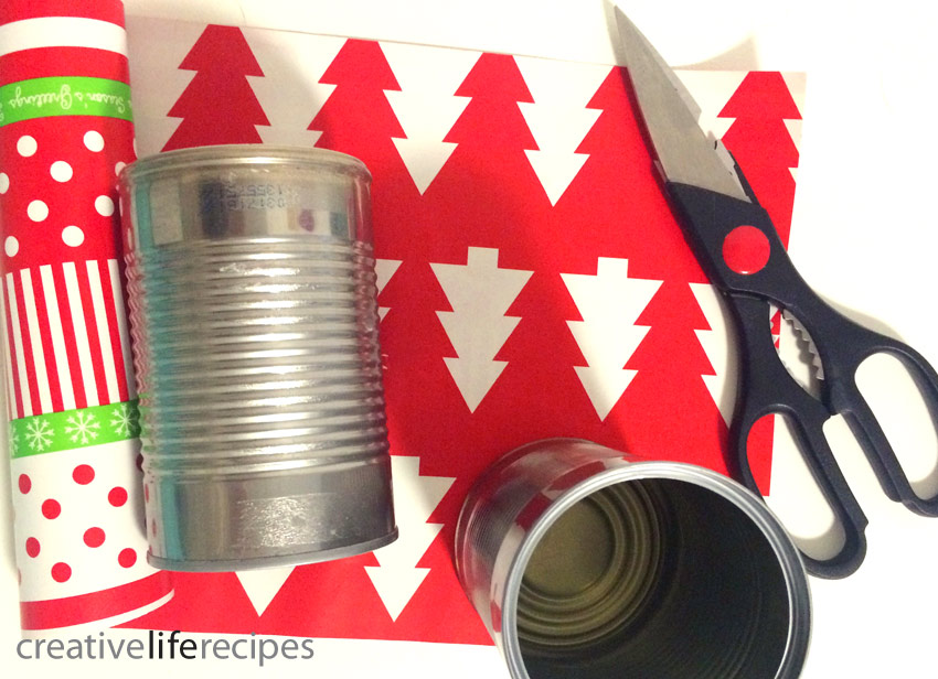 Christmas Gift Wrap Reuse Tin Cans and Scissors Creative Life Recipes