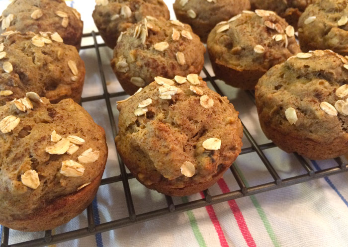 Nuts for Bananas Healthy Muffin Recipe
