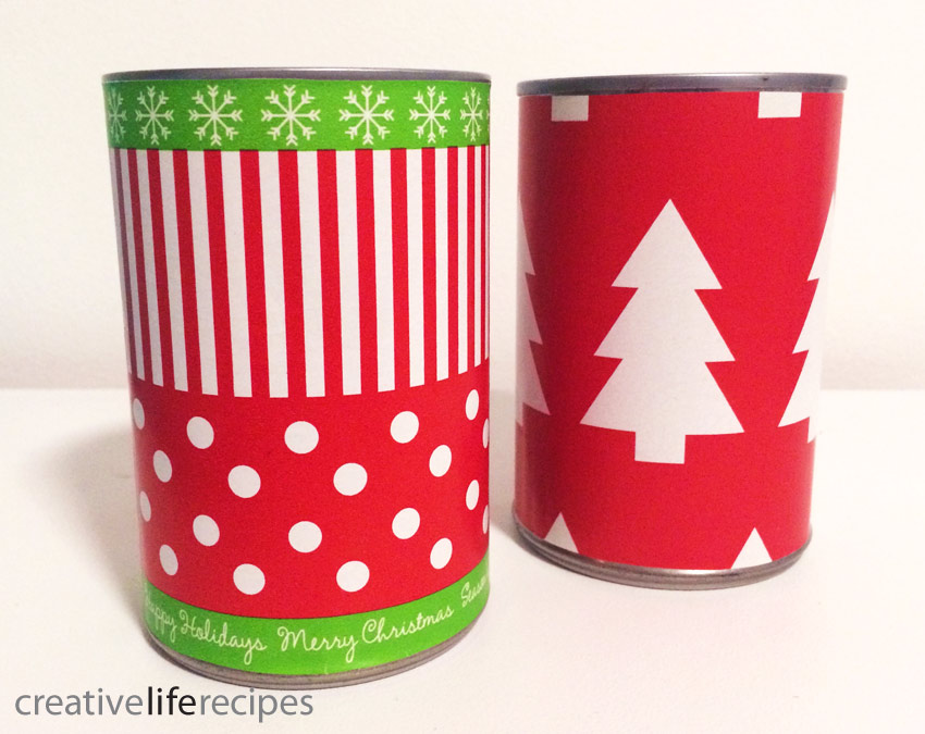 Reuse Christmas Gift Wrap Tin Cans Creative Life Recipes