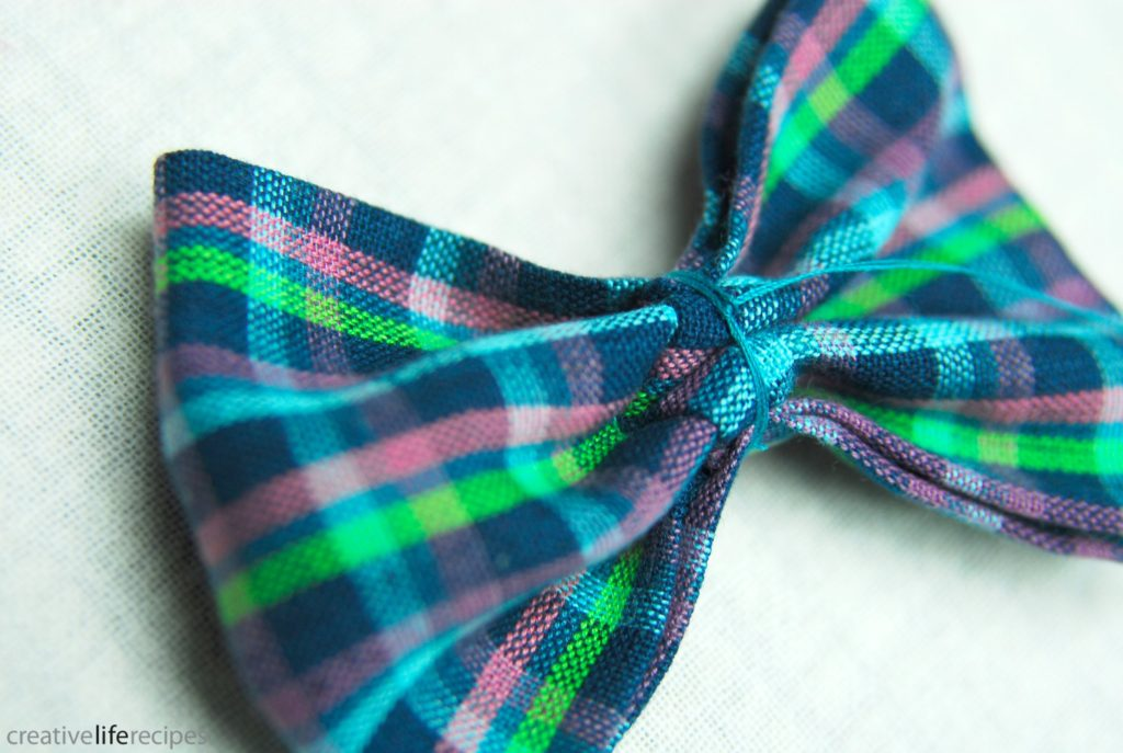 Bowtie or Bowtie Headband Knot Thread Around Bow After Wrapping Creative Life Recipes