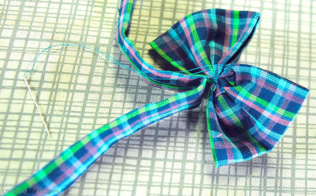 Bowtie or Bowtie Headband Wrap Thread Around Bow and Band Creative Life Recipes Logo
