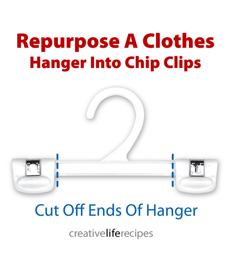 Repurpose Hanger Into Chip Clip Diagram Creative Life Recipes