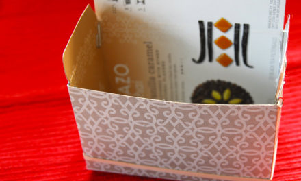 How To Turn a Box Inside Out and Repurpose For A Gift Box