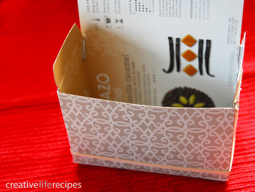 Box Inside Out and Repurpose For A Gift Box