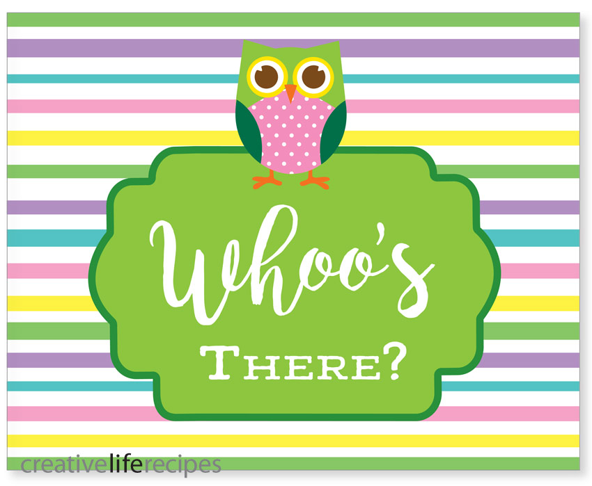 Owl Whoos There Sign Creative Life Recipes