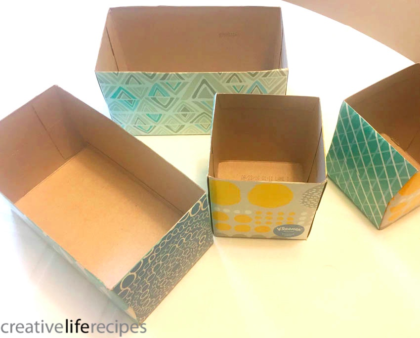 Repurpose Tissue Box Bath Storage Tops Off Creative Life Recipes