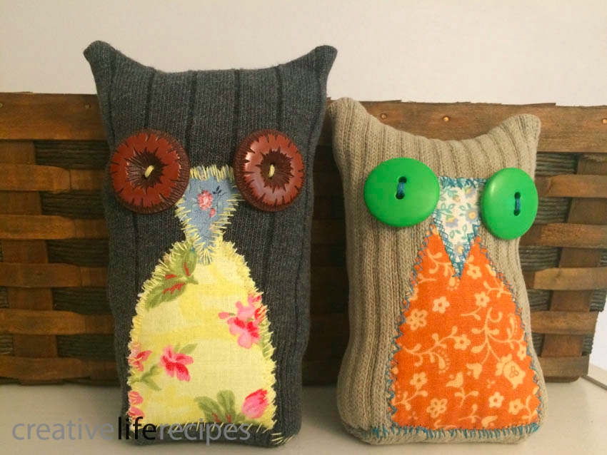 Old Sock Owl Pair Owls Finished Creative Life Recipes