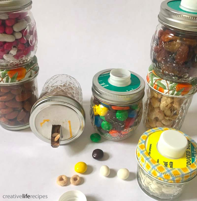 Repurposed Mason Jar Containers Multiple Snacks Creative Life Recipes