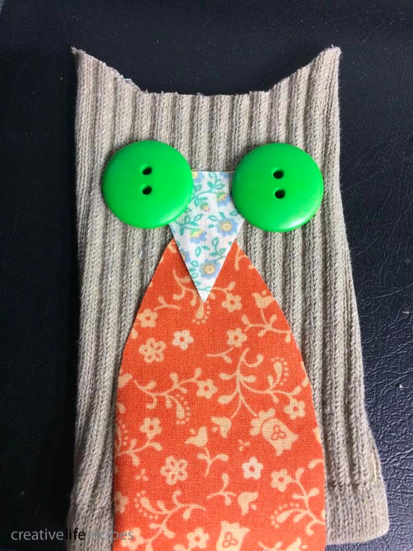 Old Sock Owl Lay Out Owl Face Creative Life Recipes