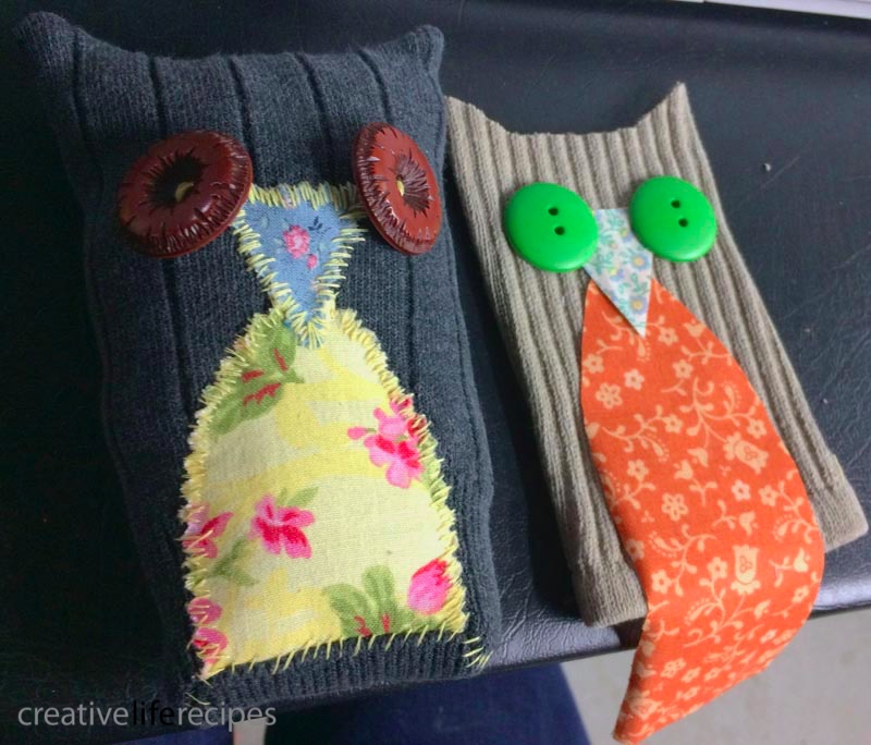 Old Sock Owl Layout Face Creative Life Recipes