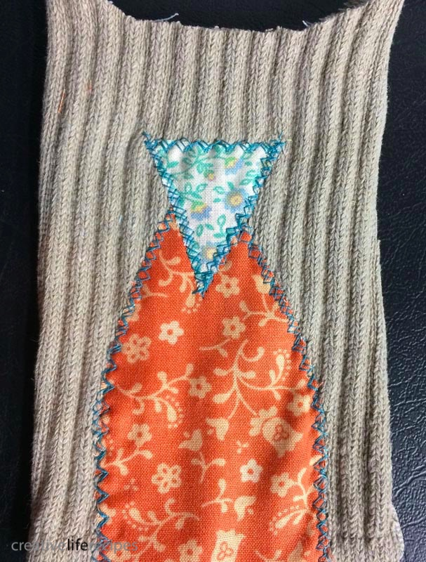 Old Sock Owl Sew on Triangle Nose Creative Life Recipes