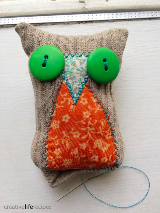 Old Sock Owl Stitch Bottom Creative Life Recipes