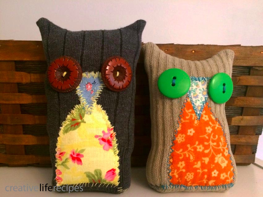 Old Sock Owls Basket Creative Life Recipes